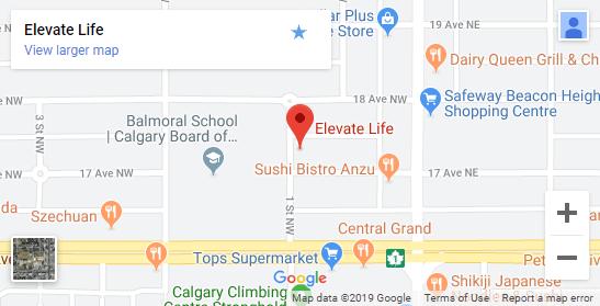 Chiropractic Calgary NW Map